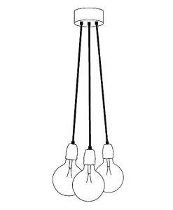 Lamp de Pendle 3 snoeren