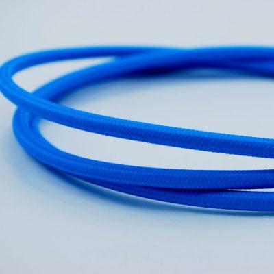 een afbeelding van het blauwe textielsnoer van die-saain