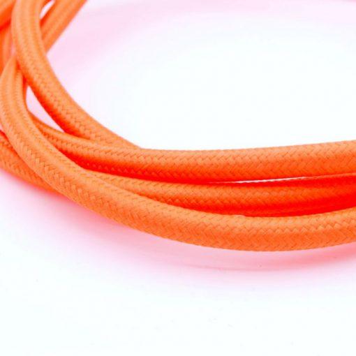 Een afbeelding van een Oranje textielsnoer