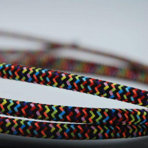 Een afbeelding van een regenboog textielsnoer van Die-saain.nl