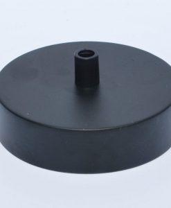 een afbeelding van een Plafondkap voor 1 snoer in het zwart