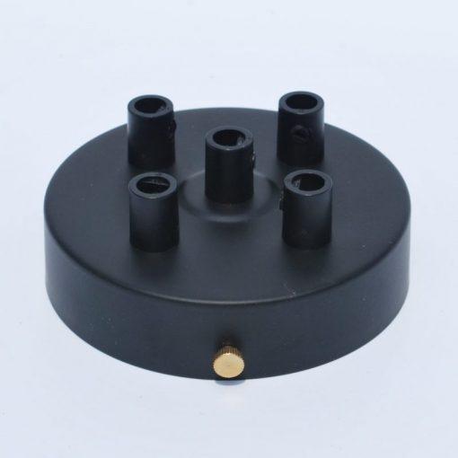 Een afbeelding van Plafondkap voor 5 snoeren in het zwart