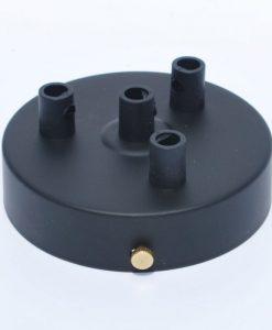 Een afbeelding van Plafondkap voor 4 snoeren in het zwart