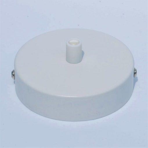 een afbeelding van een Plafondkap voor 1 snoer in het wit