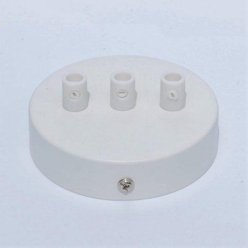 Een afbeelding van Plafondkap voor 3 snoeren in het wit