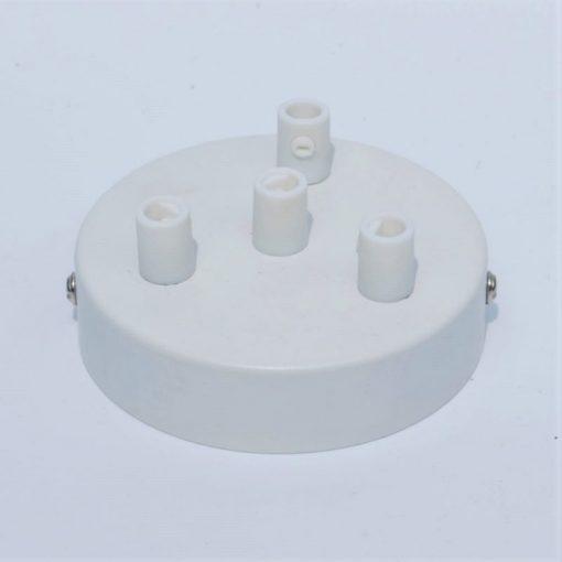 Een afbeelding van Plafondkap voor 4 snoeren in het wit