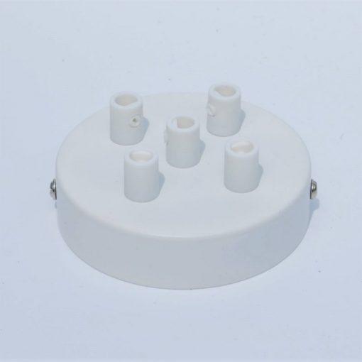 Een afbeelding van Plafondkap voor 5 snoeren in het wit