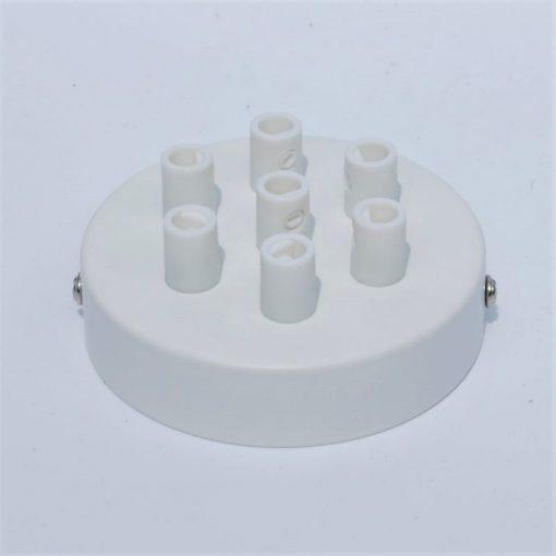 Een afbeelding van Plafondkap voor 7 snoeren in het wit