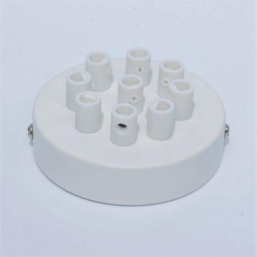 Een afbeelding van Plafondkap voor 9 snoeren in het wit