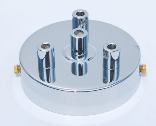 Een afbeelding van Plafondkap voor 4 snoeren in Chroom
