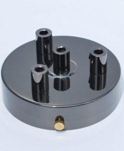 Een afbeelding van Plafondkap voor 4 snoeren in het grijs