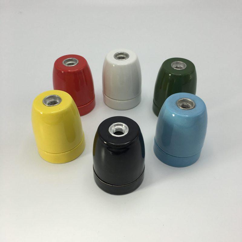 Een afbeelding van de verschillende soorten Porseleinen fittingen in ons assortiment
