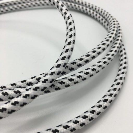 wit zwart textielsnoer